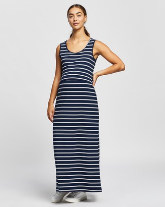 Angel Maternity Women's Navy Maxi dresses - Busy Mama Nursing Maxi Dress - Size One Size, XS at The Iconic