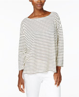 Eileen Fisher Striped Boxy Top, Regular & Petite