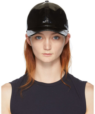 Versace Black Vinyl Medusa Cap