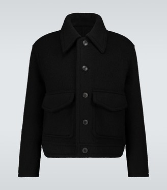 Ami Double-patch pocket wool jacket