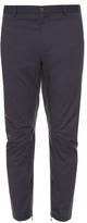 Lanvin Zip-cuff Cotton-gabardine Biker Trousers