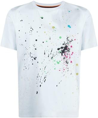 Paul Smith paint splatter print organic cotton T-shirt