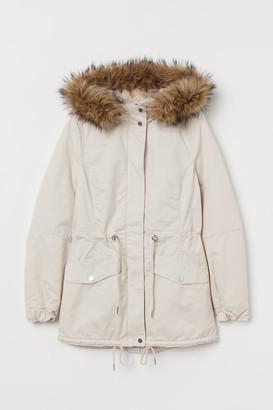 H&M Pile-lined Parka - Beige