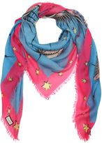 Gucci Eyes & Stars Fringed Scarf