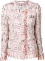 Tagliatore fringed tweed jacket - women - Cotton/Polyamide/Polyester/Polyacrylic - 42