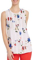 Ellen Tracy Embroidered Floral Blouse