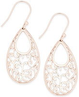 Giani Bernini 18k Rose Gold-Plated Sterling Silver Scroll Drop Earrings, Only at Macy's