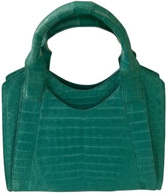 Nancy Gonzalez Turquoise Crocodile Handbags