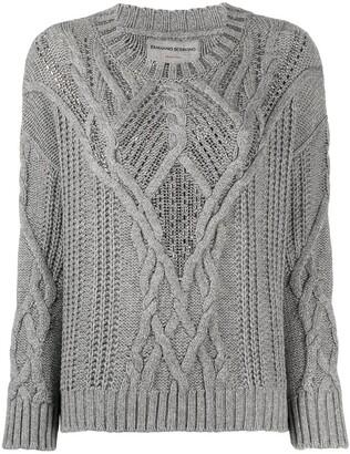 Ermanno Scervino Cable Knit Embellished Jumper