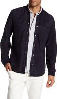 Vince Long Sleeve Suede Shirt Jacket