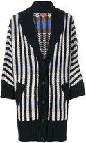 Missoni shawl lapel striped cardigan - women - Nylon/Cashmere/Wool - 38
