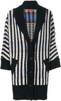 Missoni shawl lapel striped cardigan