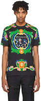 Versace Black New Signature Print T-Shirt