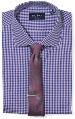 The Tie Bar Pink Two Tone Gingham Non-Iron Shirt