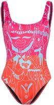 Ellie Rassia Long Island printed swimsuit