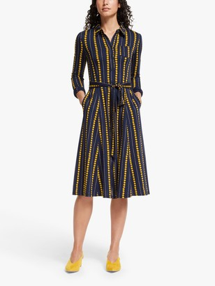 Boden Shirt Dress, Navy/Daisy Ribbon