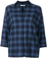 Vince plaid flared shirt - women - Cotton - S