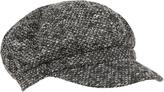 Accessorize Mono Woven Baker Boy Hat