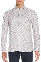 Saks Fifth Avenue Fancis Printed Linen Shirt