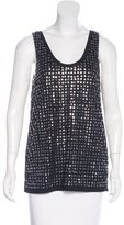 Diane von Furstenberg Sequin-Embellished Sleeveless Top
