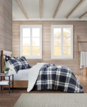 Premier Comfort Sherpa Plaid King Comforter Set