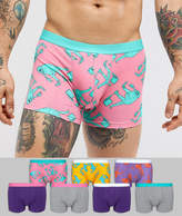 Asos Trunks With Dinosaur Print 7 Pack