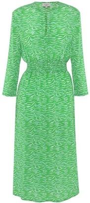 Primrose Park Tiffany Silk Dress Green Tiger - XS / Green
