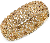 2028 Gold-Tone Decorative Stretch Bracelet