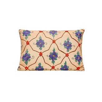 Heritage Geneve Blue Flower Suzani & Ikat Cushion