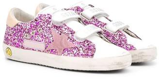 Golden Goose Kids Superstar glitter sneakers