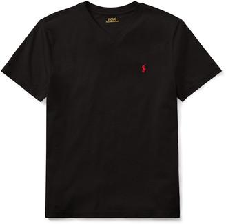 Ralph Lauren Kids Short-Sleeve Jersey V-Neck T-Shirt, Size S-XL