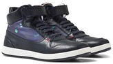 Paul Smith Navy Hi-Top Leather Trainers