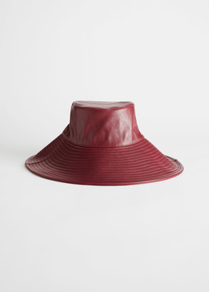 And other stories Faux Leather Wide Brim Bucket Hat