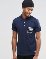 Jack and Jones Polo Shirt with Contrast Stripe Pocket