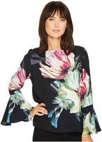 Karen Kane Flare Sleeve Top Women's Clothing
