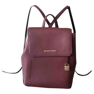 Michael Kors Burgundy Leather Backpacks