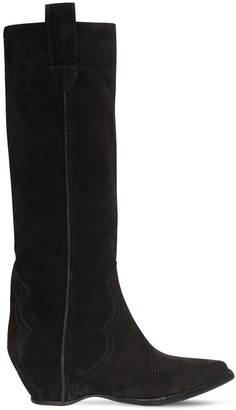 Maison Margiela 45mm Suede Tall Boots