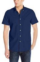 Nautica Men's Solid Seersucker Short Sleeve Shirt