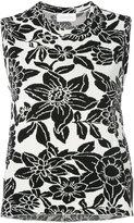 Christian Wijnants sleeveless floral top - women - Cotton/Polyamide/Viscose - L