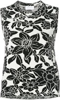 Christian Wijnants sleeveless floral top - women - Cotton/Polyamide/Viscose - M