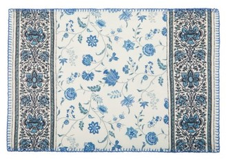 D'Ascoli Set Of Four Calico Printed Linen-blend Placemats - Blue Multi