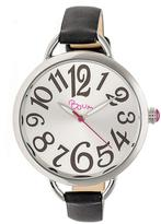 Boum Cirque BOUBM4402 Women's Silver and Black Leather Analog Watch