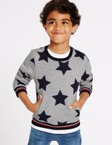 Marks and Spencer Star Print Sweatshirt (3 Months - 5 Years)