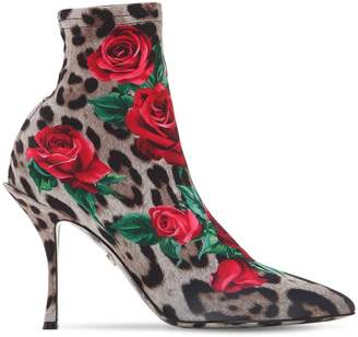 Dolce & Gabbana 90mm Lori Printed Jersey Ankle Boots
