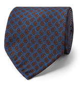 Rubinacci - 8cm Paisley-print Silk-twill Tie - Storm blue