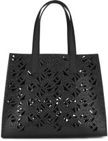 Kenzo laser cut tote bag - women - Cotton/Calf Leather/Polyamide/Polyurethane - One Size