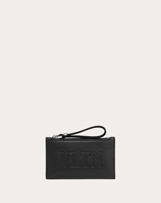 Valentino Uomo Vltn Cardholder Man Black Calfskin 100% OneSize