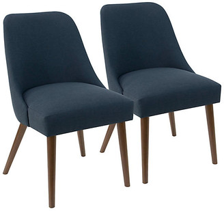 One Kings Lane Set of 2 Barron Side Chairs - Navy