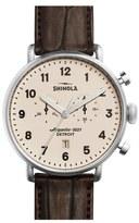 Shinola The Canfield Chrono Alligator Strap Watch, 43mm