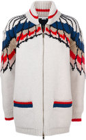 Stella McCartney Feather Print zipper cardigan